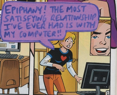 ... annotated cartoons of Archie's comic book girlfriends, Betty & Veronica, ...