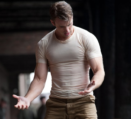 Movies male body image in captain america the scarlett for Buff dudes t shirt