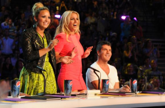 x factor judging panel britney spears demi lovato simon cowell