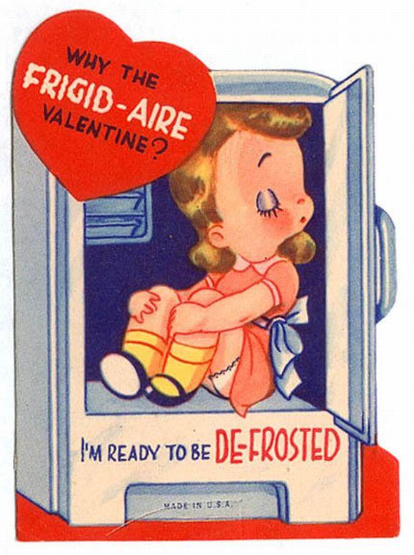 vintage sexist valentines day card