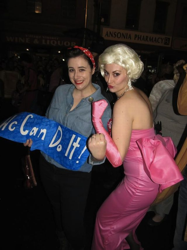 halloween rosie the riveter marilyn monroe