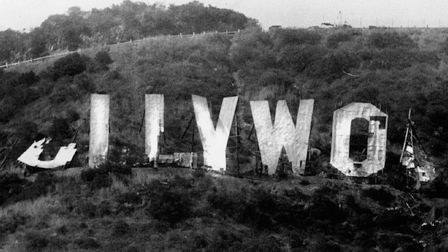 hollywood sign in ruins